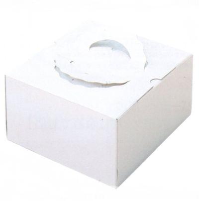 デコ箱 H130 TSD 白ム地 7寸用 259×256+20×130mm高(50枚)【トレー無し】ケーキ箱 パッケージ中澤 【本州/四国/九州は送料無料】