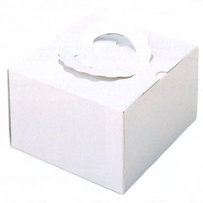 デコ箱 H140 TSD 白ム地 5寸用 192×188+20×140mm高(100枚)【トレー無し】ケーキ箱 パッケージ中澤 【本州/四国/九州は送料無料】