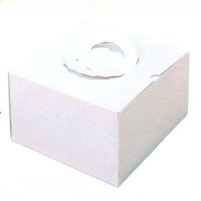 デコ箱 H178 TSD 白ム地 4.5寸用 164×160+20×178mm高(100枚)(トレー無し) (背の高いデコレーションケーキ用)パッケージ中澤