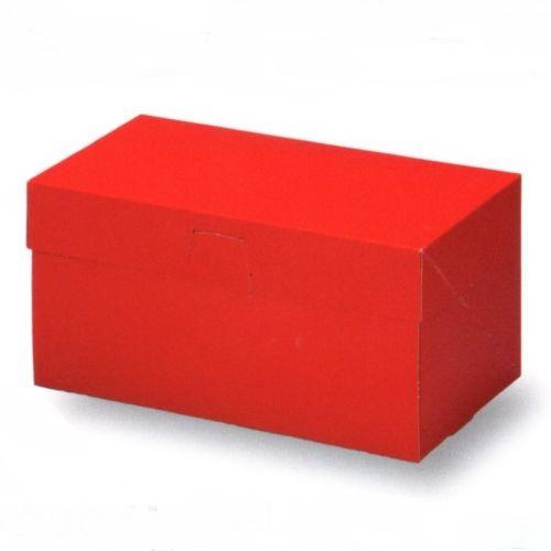 ケーキ箱 ロックBOX105 レッド 3.5×7(300枚)108×210×105mm ロックボックス パッケージ中澤【本州/四国/九州は送料無料】