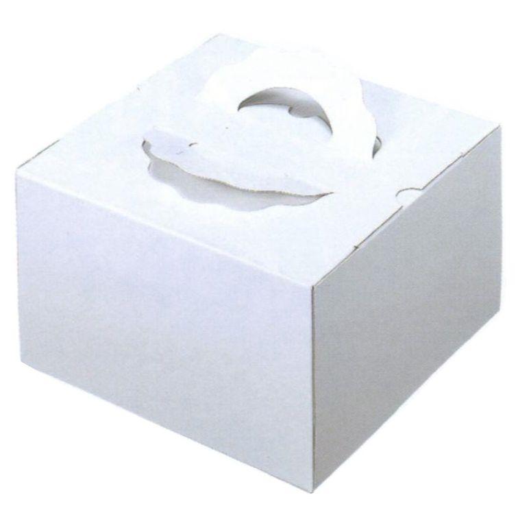 デコ箱 TD 白ム地 6寸用(100枚)(トレー無し) 212×212×120mm高 ケーキ箱 パッケージ中澤