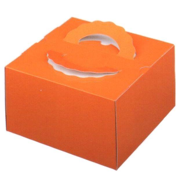 デコ箱 TDオレンジ6寸用 212×212×120mm高(100枚)【トレー無し】パッケージ中澤 【本州/四国/九州は送料無料】