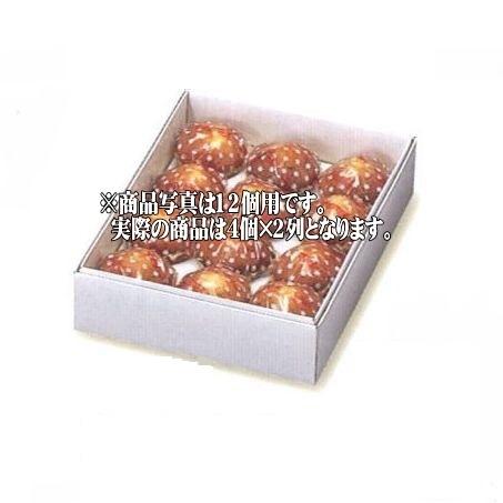 【北海道・沖縄への発送はできません】378 白ファンシー 8ケ用(200枚)244×124×57mm パッケージ中澤/焼き菓子ギフト函/マドレーヌ箱