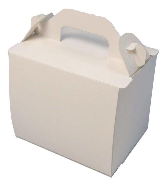 ケーキ箱 新105OPLホワイト3×4(400枚) 90×120×105mm 高さ10.5cm ショートケーキ用 手提げサイドオープン式 パッケージ中澤