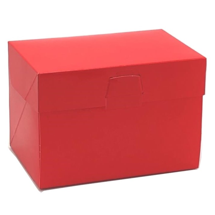 ケーキ箱 ロックBOX105 レッド 3.5×7(300枚)108×210×105mm ロックボックス パッケージ中澤
