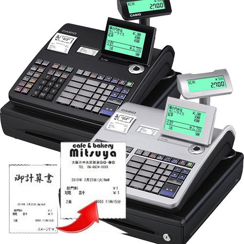 レジスター カシオ 本体 TE-2700-20S + 電子店名スタンプ作成