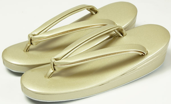 草履フォーマル用 金色 LLサイズ(特大) 留袖、訪問着用 単品 皮製 婦人和装小物(送料無料)