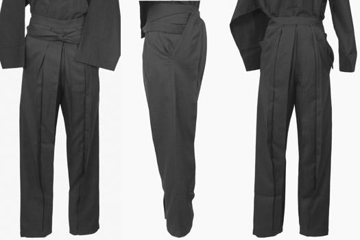 作为能从男用物品化学纤维裤裙裤子裤裙聚酯捻线绸式的布料订做9色中选的日式西服的裤子平常作为穿用男子的hakama