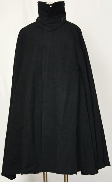 紳士マント 黒色綿生地 金田一風 着物、作務衣用 和洋兼用 カジュアルメンズアウター【送料無料】