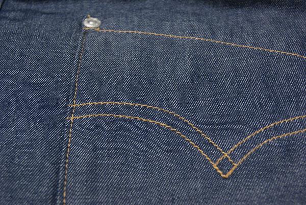 环保男女用含没有供防寒使用的粗斜纹布袖子的短上衣深蓝色M/L尺寸棉的短上衣无袖短外罩节电兼用