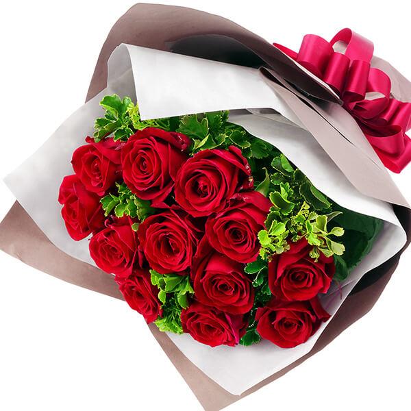 上質 12本のバラに12種類の想いを込めて贈る花束 結婚記念日 花 ギフト 数量限定アウトレット最安価格 お祝い プレゼント 金婚式花キューピットのダズンローズの花束yb00-512045 祖父母 銀婚式 一周年 夫婦 花婚式