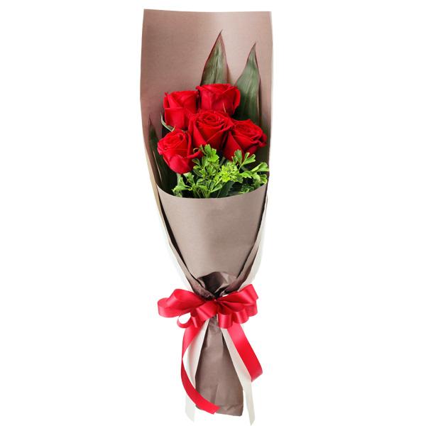 5本のバラの意味は 売買 公式サイト あなたに出会えた心からの喜び お祝い 誕生日 就職退職 歓送迎 結婚 プレゼント 記念日 開店開業 還暦 花キューピットの赤バラ5本の花束yc00-512083 卒業入学