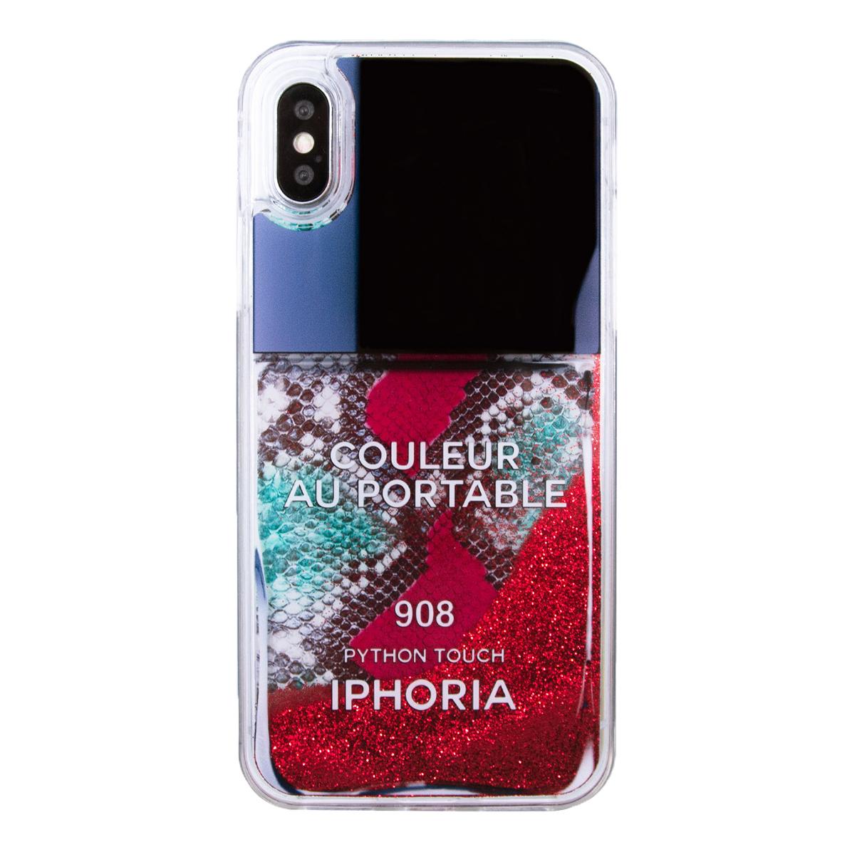 IPHORIA アイフォリア Liquid Case for Apple iPhone X/XS Red Snake Classic Nail Polish リキッドケースレッドスネーククラシックネイルポリッシュ 海外ブランド オシャレ 人気