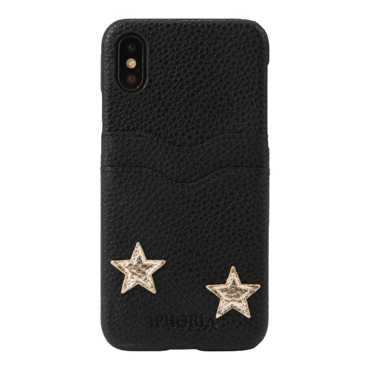 IPHORIA アイフォリア Slot Case for X/XS - Black Stars - Stay With Me スロットケースブラックスターズステイウィズミー 海外ブランド オシャレ 人気