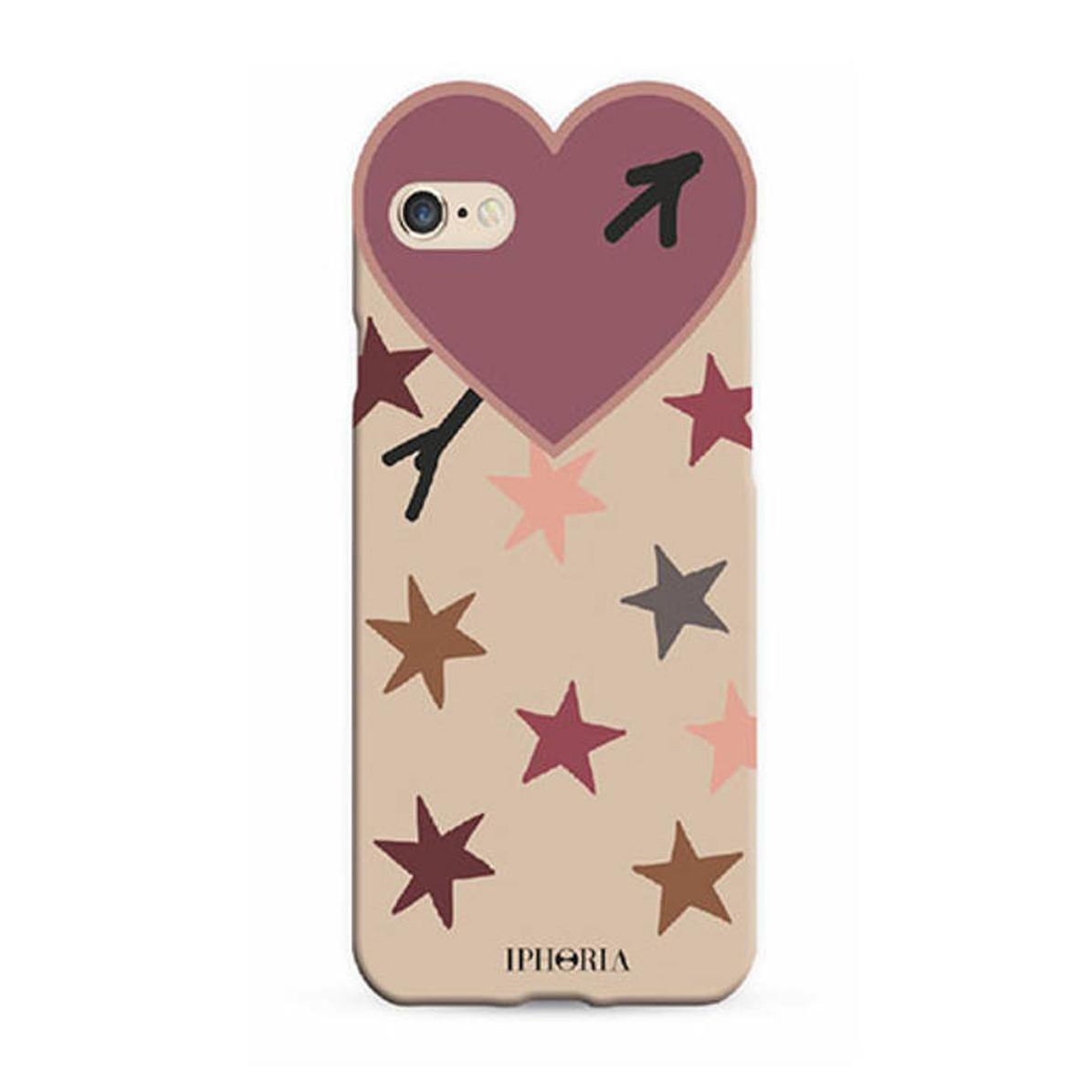 iPhoneケース アイフォンケース スマホケース スマホカバー かわいい 人気 ハート お歳暮 IPHORIA アイフォリア Heart Purple 通信販売 for iPhone Case 7 オシャレ 8 ハートケースパープルスター 海外ブランド Stars