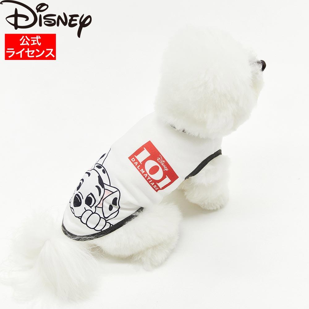 ☆最安値に挑戦 Disney公式ライセンス Disney ディズニー 101匹わんちゃんBIGフェイス タンク ホワイト DS211-021-087 格安 価格でご提供いたします ペット用品 Cruella エマ ペットウェア クルエラ ストーン 犬服