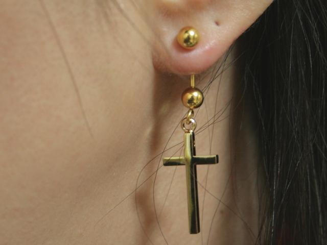 18 G Large Simple Cross Ear Unisex Body Piercing He Sophias Belly Button Piercing Ear Piercing Dm Flights