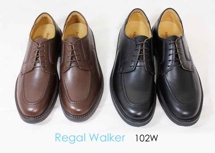 REGAL WALKER(リーガルウォーカー)Uチップシューズ 幅広3E 102W メンズ ビジネスシューズ