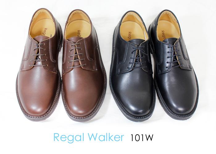REGAL WALKER(リーガルウォーカー)プレーントゥ 幅広3E 101W メンズ ビジネスシューズ