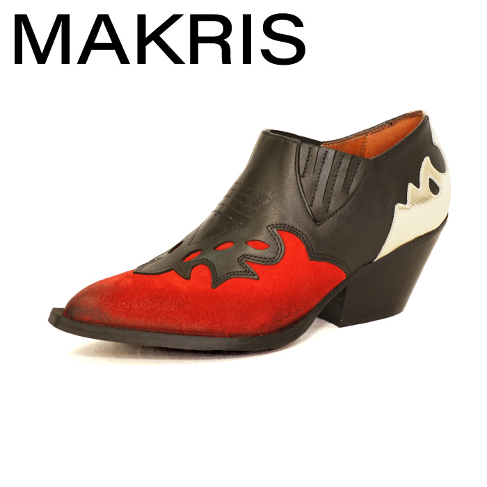 MAKRIS マクリス レディース ウエスタンショートブーツ レディースシューズ (makris_h21)