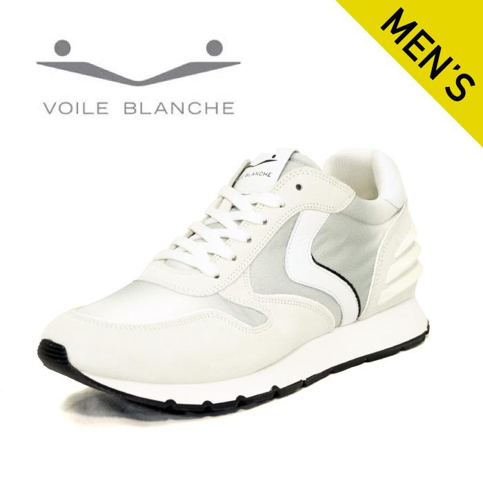 ■ 定番 VOILE BLANCHE 本店 驚きの値段で ボイルブランシェ2014594-03 WHITE リアムパワー スニーカー ホワイトスエードとマルチカラーのファブリック 国内正規品 メンズ