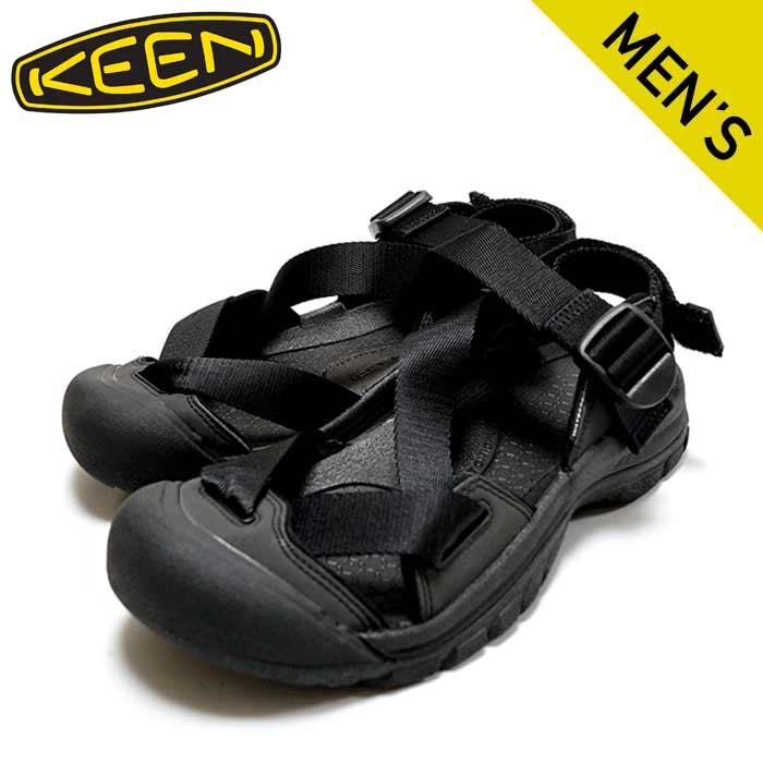 new ■ KEEN キーン ゼラポート ツーストラップサンダル1022418 メンズ お値打ち価格で ZERRAPORT BLACK 2 商店 靴