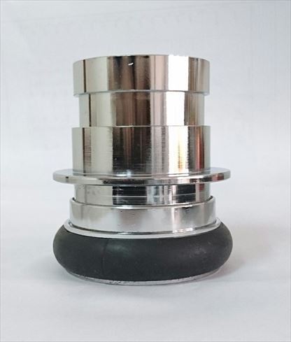 媒介金具 65AX50A差込式オスX差込式メス (クローム)  DBK-M1M2:IBELL アイベル