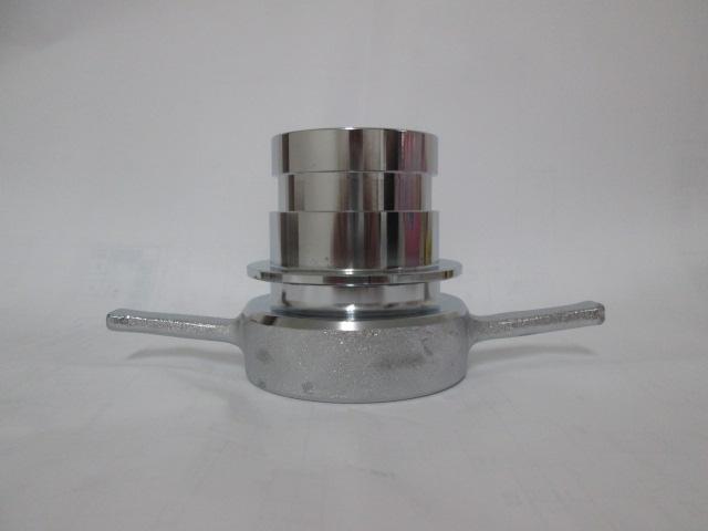 媒介金具 65A差込式オスX消防ネジメス (クローム)長角 DBK-M1S2