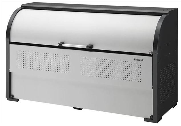 ダイケン スチールゴミ収集庫クリーンストッカー 間口1950 CKR-1907-2 ( 旧品番 CKR-1950-2 ) 屋外 大型 ゴミ箱 ゴミ置き