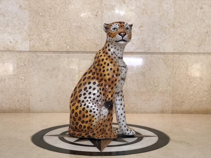 イタリア製 陶器 動物 ヒョウ