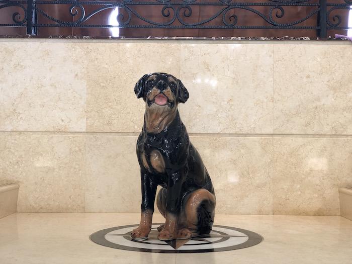 イタリア製 陶器動物 ロットワイラー