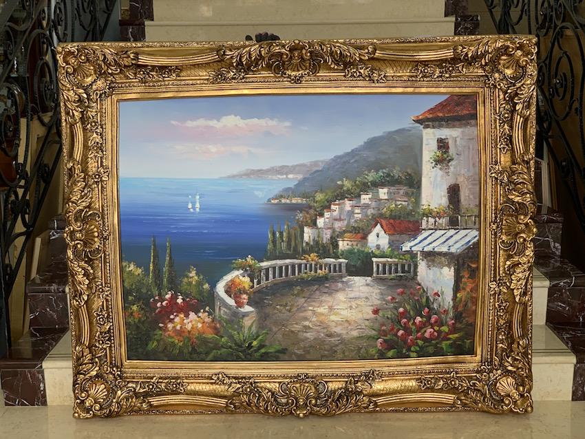 彫刻フレーム 油絵『風景画 C』