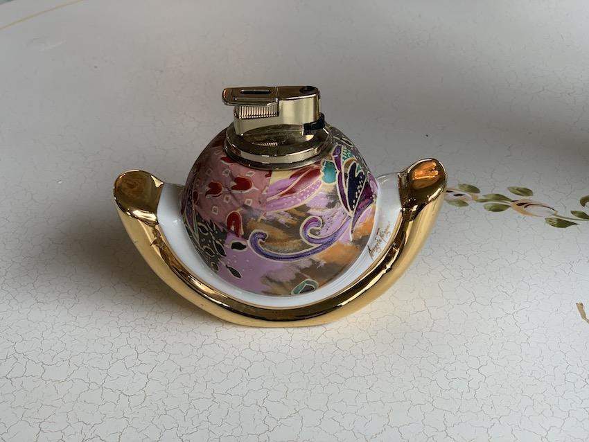 イタリア製 陶器ライター(店舗サイン入り)