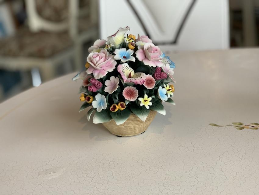 イタリア製 陶花 オブジェ