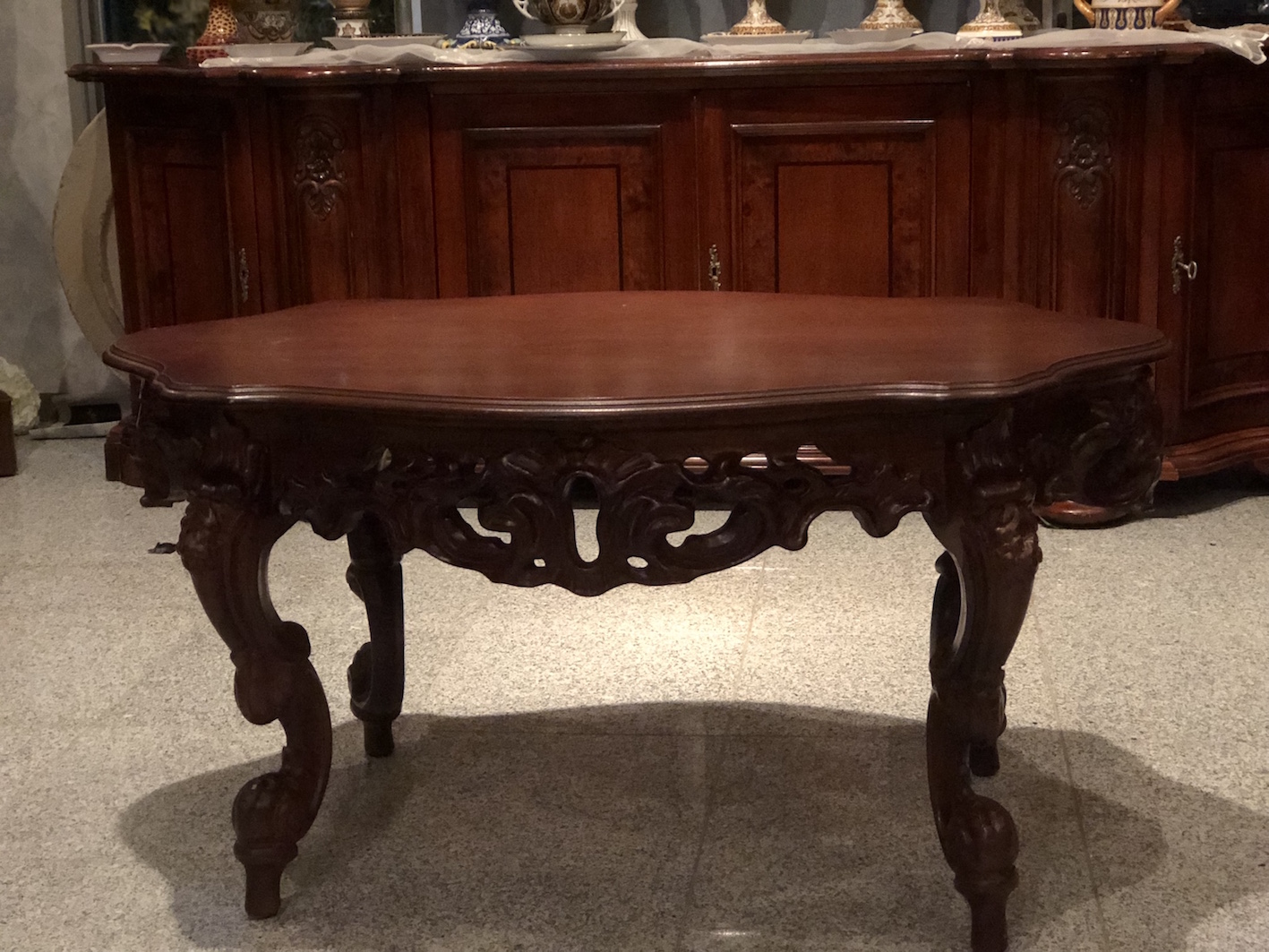 木彫り センターテーブル
