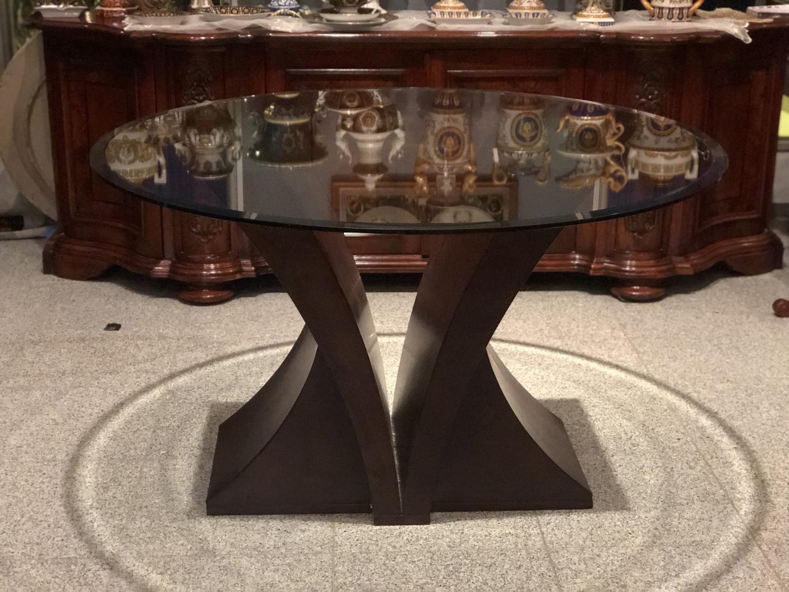 ガラス天板 ダイニングテーブル