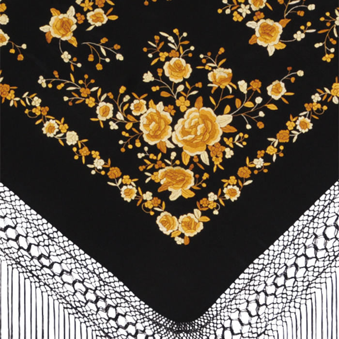 BF-1617 刺繍入りマントン/ブラック×ゴールド BF-1617【フラメンコ用品】, ヘッジホッグ おとなカワイイ靴店:40554c78 --- officewill.xsrv.jp