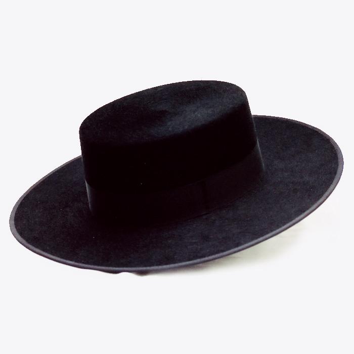 羊毛100% 品質にこだわりました 練習用にも本番用にも コルドベス スタンダードブラック 帽子 激安挑戦中 フラメンコ用品 絶品 羊毛100% ISESA社製