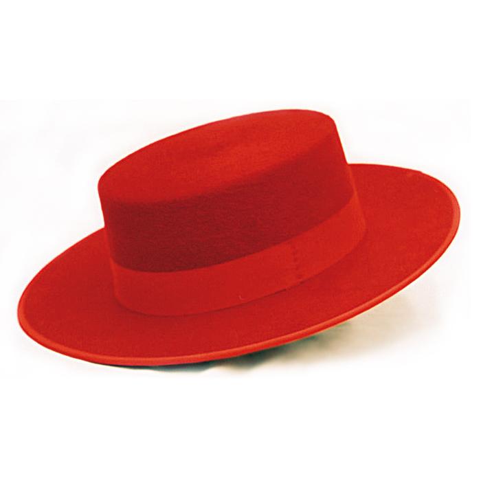 メーカー在庫限り品 羊毛100% 品質にこだわりました 練習用にも本番用にも コルドベス コロリード レッド 帽子 往復送料無料 羊毛100% ISESA社製 フラメンコ用品