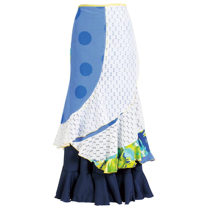 【1点モノ】WHF-1701 巻きスカート【246】【日本製】【フラメンコ衣装】『1点のみメール便可』ファルダ ラップスカート ダンス 発表会