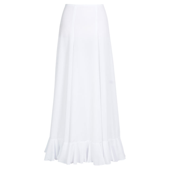HE-1201 1段フリルペチコート / ホワイト【日本製】【フラメンコ衣装】ファルダ