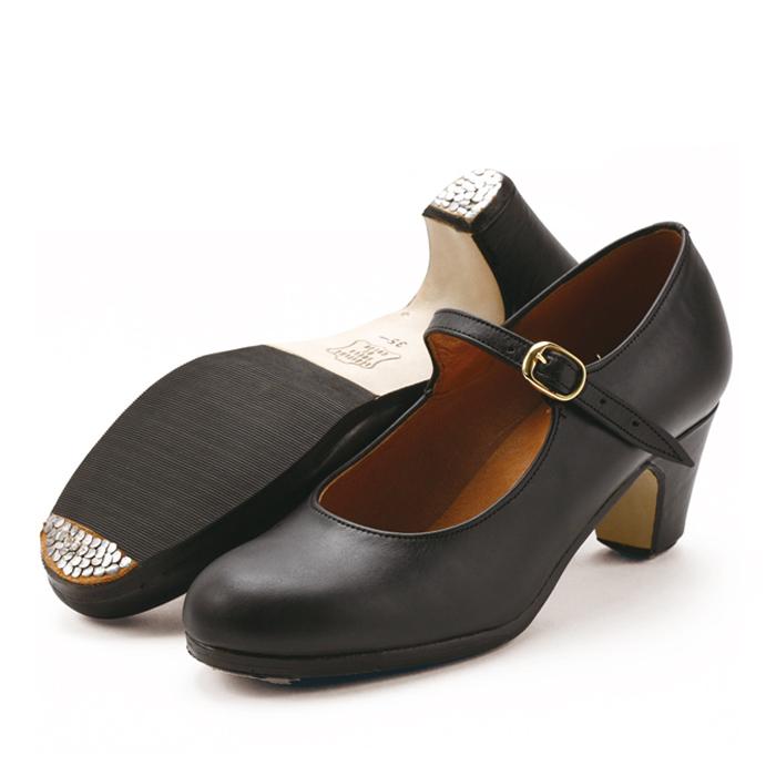 〈サリダ〉黒革ワンベルト【幅広(C)】【靴】【フラメンコシューズ】【初心者向け】サパトス zapatos