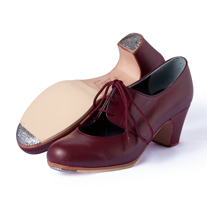 〈ドン・フラメンコ〉セミプロ・マラゲーニャ/ワイン革紐【普通幅(B)】【靴】【フラメンコシューズ】サパトス zapatos