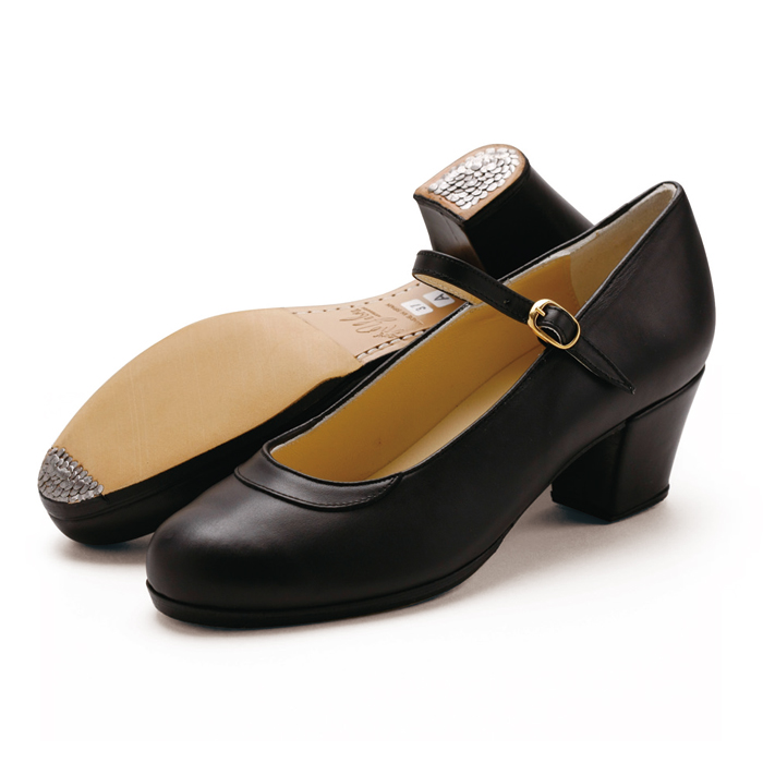 【在庫限り】〈ジェブラ〉プロ/黒革【フラメンコシューズ】【幅広(C)】【靴】サパトス zapatos