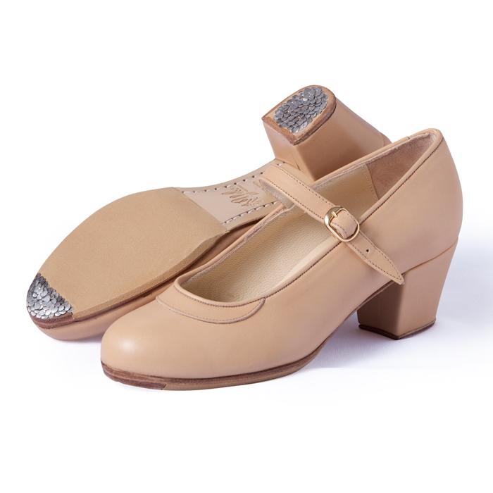 【在庫限り】〈ジェブラ〉プロ/ベージュ革【フラメンコシューズ】【幅広(C)】【靴】サパトス zapatos