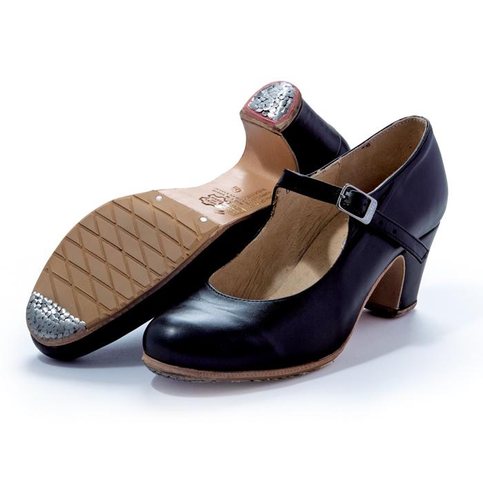 〈メンケス〉セミプロ/黒革【幅広(C)】【靴】【フラメンコシューズ】サパトス zapatos