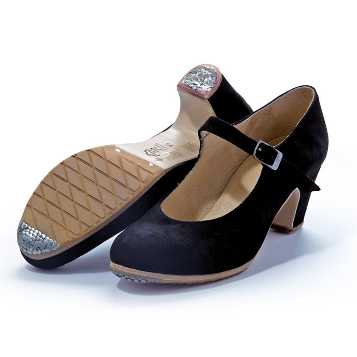 〈メンケス〉セミプロ/黒スエード【幅広(C)】【靴】【フラメンコシューズ】サパトス zapatos