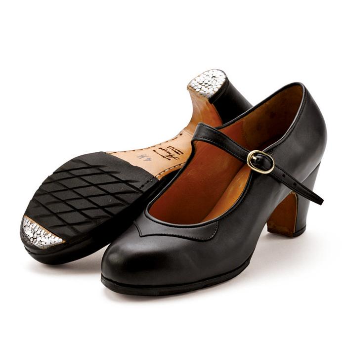 〈アマジャ〉セミプロ/黒革【幅広(C)】【靴】【フラメンコシューズ】サパトス zapatos