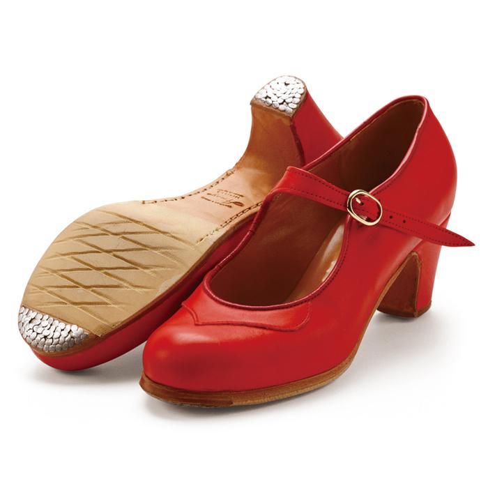〈アマジャ〉セミプロ/レッド革【幅広(C)】【靴】【フラメンコシューズ】サパトス zapatos