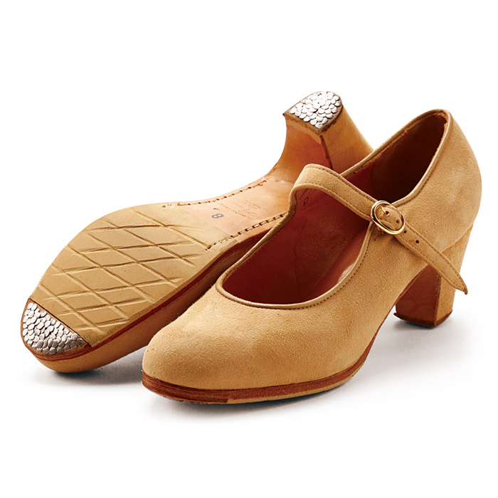 【訳あり特価/34.5C、39.0C】〈アマジャ〉セミプロ/ベージュ・スエード【幅広(C)】【靴】【フラメンコシューズ】サパトス zapatos